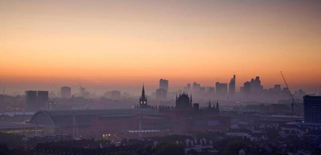 kings cross st pancras sunrise from camden - james burns