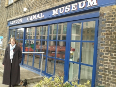 Celia and Tilly at London Canal Museum