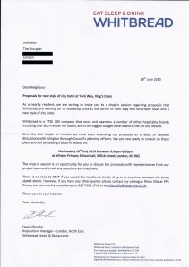 whitbread letter