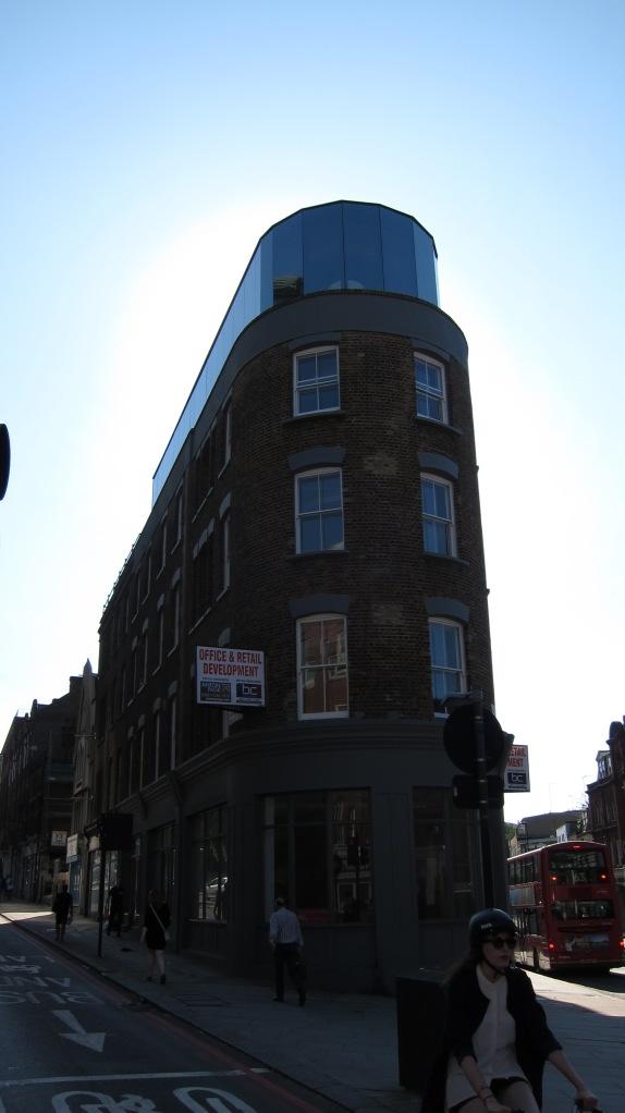 shiny top building