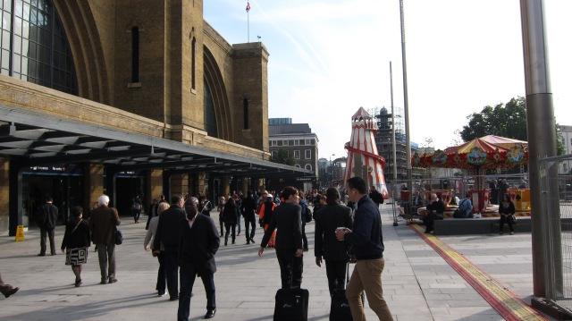 Kings Cross Square - day one of operation