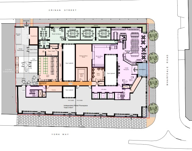 whitbread ground floor plan proposed - Floor Plan Application