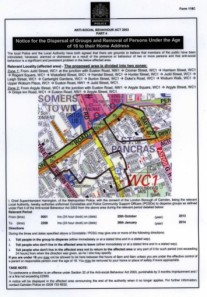 south kings cross dispersal zone