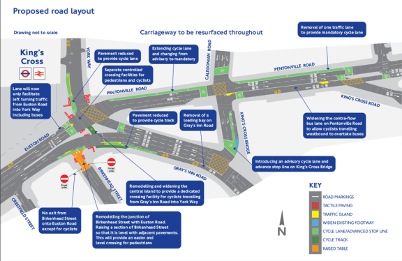 Interim proposals for the KX gyratory from TfL