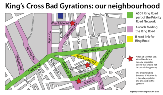 The King's Cross gyratory system and the neighbourhoods it passes through