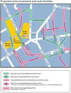 Proposed cycle movements and cycle facilities